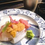西中洲 鮨 山椒郎 - 鮮魚盛り