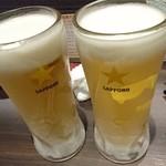 花鳥風月 - ビールで乾杯
