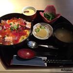 57311409 - 茶碗蒸しに法蓮草の胡麻和えの小鉢が付いて800円也