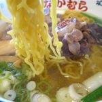 本家なかむら - 元祖テールラーメン塩味の麺