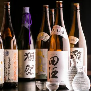 《豊富なドリンク》全国各地から厳選した日本酒を数多くご用意!