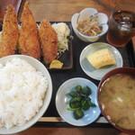 番屋 - アジフライ定食 ¥850-