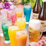 錦個室居酒屋 北の料理とお酒 うみ鮮 - コースの飲み放題は生ビール・果実酒種等豊富に200種超!