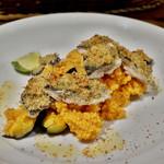 57325434 - 秋刀魚の香草パン粉焼き クスクス添え