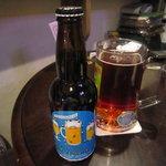 十月祭 - 店主が常連さんと『南信州ビール 』で仕込んだビールだそうです。