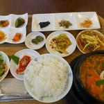 キムチのミズノ - 豆腐チゲ定食