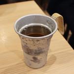 魚屋スタンドふじ - 最後は御出汁でお茶漬け☆