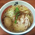 塩元帥 - 【天然塩ラーメン + 半熟味付け卵】¥700 + ¥100