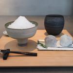 餅匠しづく - くるみ氷 & 渋皮栗大福 & 丹波黒豆餅☆