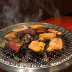 炭火焼肉 ホルモン横丁 - 七輪でジワリ焼き(2016年10月2日)