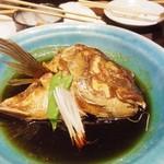 築地伊勢や 魚禅 - 真鯛 かぶと煮つけ