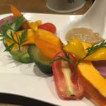 神田バル - 野菜のバーニャ風 550円