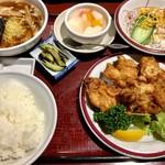 中国料理 稲金 - こちらもラーメンと白ご飯付き