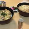 若ぎ里 - 料理写真:親子丼、かつ丼と生中♪
