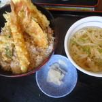 夢庵 - 料理写真:ランチの天丼セット 599円