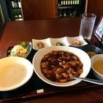 チャイナ食堂 九龍 - いただいた、麻婆豆腐セット