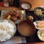 蔵屋 - つくば鶏のから揚げ定食@880