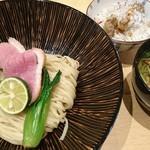 饗 くろ喜 - 鴨と松茸のつけそば+鴨あぶら飯 1800円