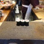 鮨まるばつ - 鮪と胡瓜の巻物