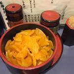 57358927 - 一味、柚子胡椒、大根 つぼ漬け