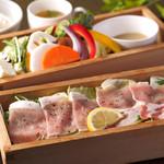 Cafe & Bar えんじ - 久住黒豚と季節野菜のせいろ蒸し膳