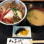 八千代 - 《ひこね丼・みそ汁付き》980円 2016/10/13