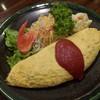 鶴屋 - 料理写真:オムレツ(中の具は玉ねぎ、ひき肉)