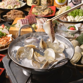 あっさり系鍋ブームの◆はまぐり出汁鯛しゃぶしゃぶコース◆