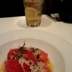 57370176 - トマトとしらす  女性に嬉しい野菜メニュー