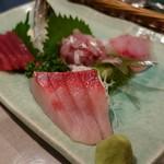 さらの木 - (2016/9月夕食)御造り地魚刺身の盛り合わせ