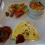 さらの木 - (2016/9月朝食)オムレツ、ラタトゥイユ、ライスグラタン、温野菜