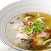 自家製漬物と魚の辛し煮物(辛さ2)