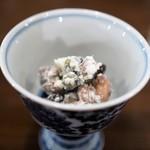 あそび割烹 さん葉か - 納豆のマスカルポーネ和え