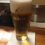 ささよし - 生ビール エビス(550円)