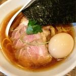 新橋 纏 - 特製平子煮干そば 950円
