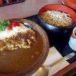 福は内 - カレーライス+そばセット740円