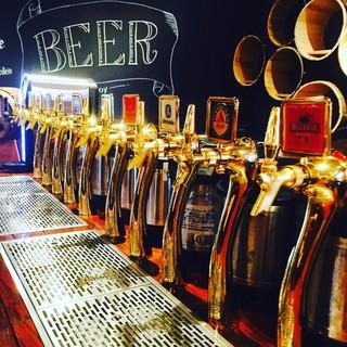生ビール初め約60種類のドリンクが飲み放題♪