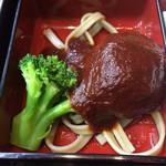 57393287 - 洋食弁当のハンバーグ(これはめちゃくちゃおいしい)