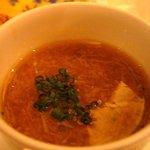 ラ・ロシェル - 黒豆乳のフラン ズワイガニのソースをかけて