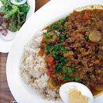ポジティブフードカフェボウ - ごぼうとレンティル豆のキーマカレー