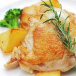 山の手マリアージュガーデン - チキンソテー 野菜とマスタード添え