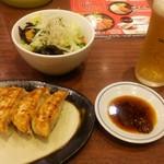 一刻魁堂 - タンメン野菜と餃子