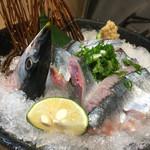 魚と溶岩焼 温 - 料理写真:新さんま造り