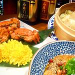 """中華香彩JASMINE - 旬の味""""上海蟹""""を様々な調理法でご堪能いただけます。"""