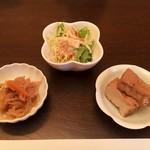 鮨処 修 - 小鉢3種