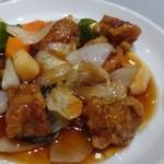花筏 - *酢豚の豚肉は噛みごたえがあったようですけれど、お味付は甘酢の具合も好みだそう。