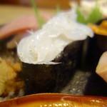 松寿司 - [2016/10]特上寿司(2450円)・白魚の軍艦巻き