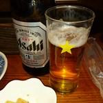 つちの子 - アサヒビールをSAPPPOROグラスで飲むってとこがまた好きです。
