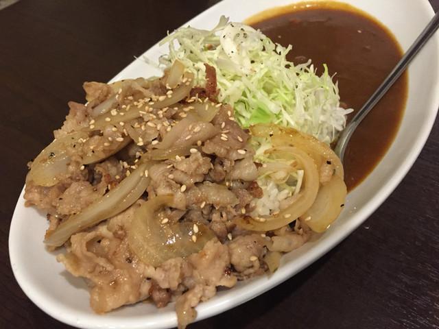 広尾のカレー - 生姜焼きカレー1380円