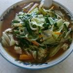 美好食堂 - ミソラーメン大盛。野菜たっぷり。